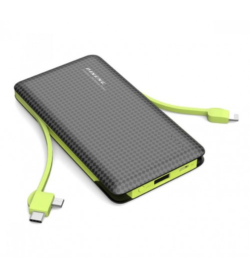 PINENG PN-956 10000mAh Built-In 2 Cable Lithium Polymer Power Bank
