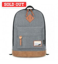 Denim Solid Backpack Light Grey