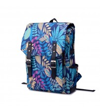 English Backpack Blue Luminesence Floral