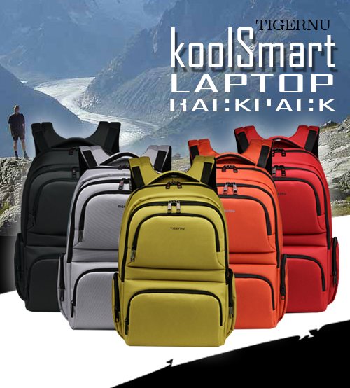 TIGERNU koolSmart Travel Leisure Laptop Backpack