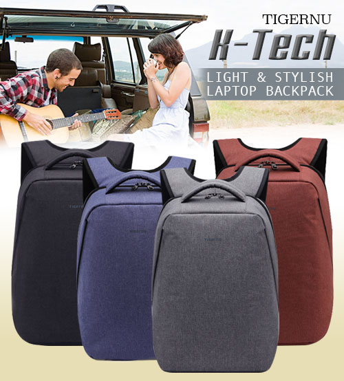 TIGERNU K-Tech Light & Stylish Laptop Backpack