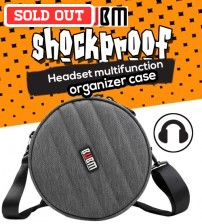 BUBM Shockproof Headset Headphones Multifunctional Organizer Case Bag