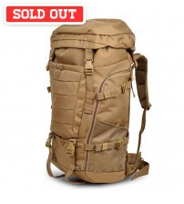 Military Steel Framed 80L Large Travel Tactical Backpack ( Wolf Brown )