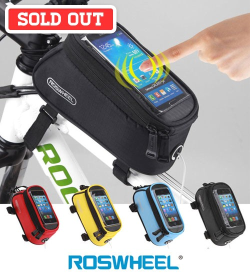Roswheel Waterproof Bike Bicycle Pouch Bag with Audio Extension Line