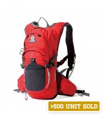 Hawk Pentagram Outdoor Travel Backpack Red