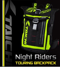 RS TAICHI Night Riders Waterproof Touring Sport Backpack ( Waterproof With LED Night Light )