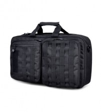 Rustic Tactical Briefcase 35L Computer & Travel Backpack - Waterproof / Tear Proof / Ultra Light ( Black )
