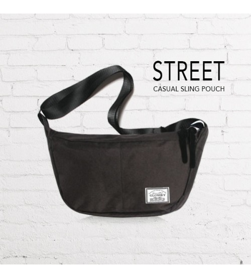 Street Casual Messenger Sling Pouch Bag (Black)