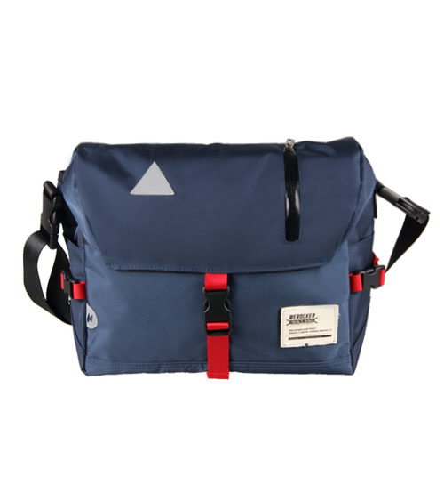 Flash Messenger Sling Shoulder Outdoor Casual Backpack (Blue)
