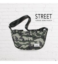 Street Casual Messenger Sling Pouch Bag (Camouflage)