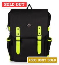 English Backpack Black Fluorescent