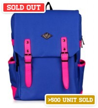 English Backpack Blue Fluorescent