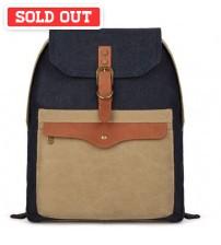 Canvas Envelope Korean Backpack Brown