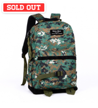 Marine Pixels Camouflage Leisure Travel Laptop Backpack