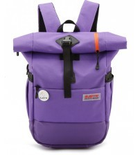 Blast Hornet Laptop Travel Satchel Backpack Purple