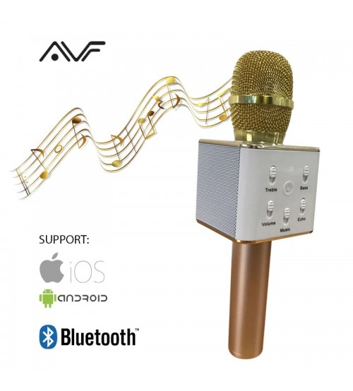 AVF Wireless Bluetooth Portable KTV Microphone Self-Karaoke With Speaker