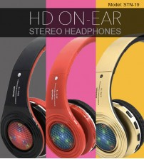 STN-19 LED Light Wireless High Definition On-Ear Stereo / MP3 / Bluetooth Headphones / TF Card With Mic