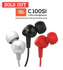 JBL C100SI Wired In-Ear Headphones with Mic