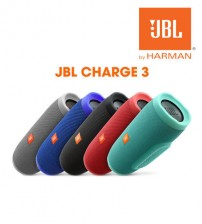 JBL Charge 3 Rechargeable Waterproof Portable Wireless Bluetooth Speaker + Power Bank with High-Capacity 6,000mAh Battery