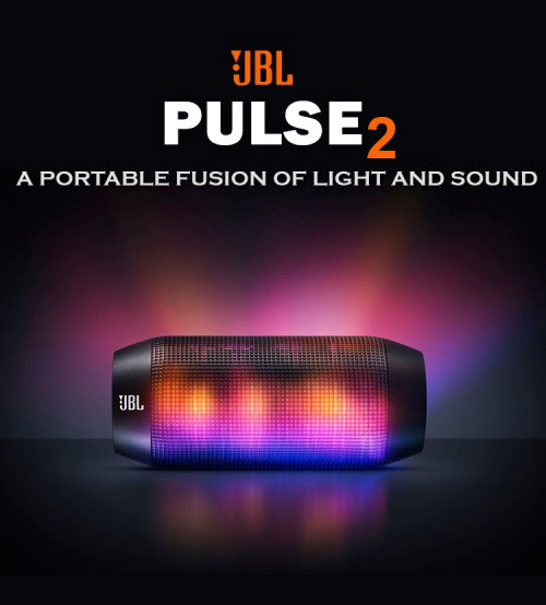 JBL Pulse 2 Wireless Splashproof Portable Bluetooth Speaker With Interactive LED Light Show - NEW
