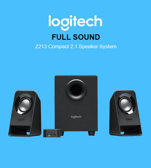 Logitech FULL SOUND Z213 Compact 2.1 Speaker System