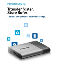 Samsung Portable SSD T3 External SSD Solid State Disk Drive (250GB)