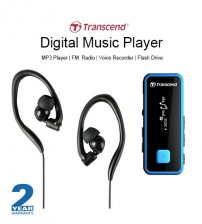 Transcend MP350 Digital Music Player Flash Drive MP3 Player FM Radio With 8GB Memory