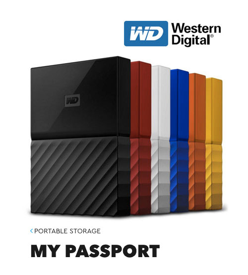 WD Western Digital Portable Storage MY PASSPORT - New Design ( 1TB / 2TB / 3TB / 4TB )