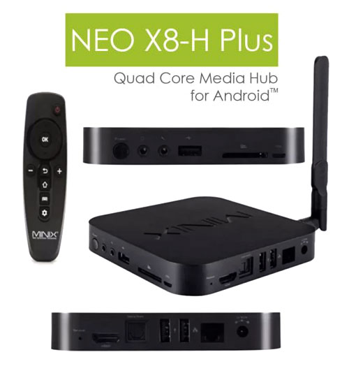 Minix Neo X8-H Plus 4K Ultra-HD Android Box 16GB 4K Quad Core TV Box WIFI KODI IPTV TV BOX (Original Malaysia 1 Year Warranty)