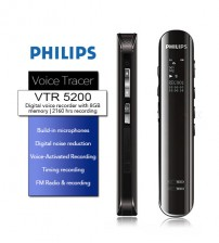 Philips VTR5200 Professional Digital Audio Recorder High Sensitive Voice Trace With 8GB Internal Memory