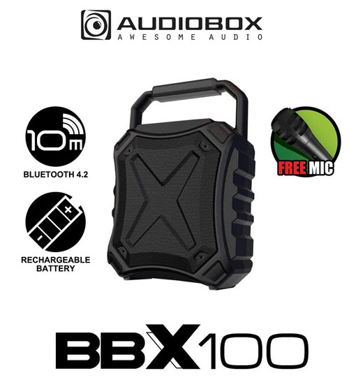 Audiobox BBX100 Portable Light Weight Bluetooth Speaker with Free Microphone