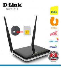 D-Link DWR 711 3G Direct SIM Wireless N300 Modem WiFi Router for DiGi U-mobile Yoodo Maxis Celcom