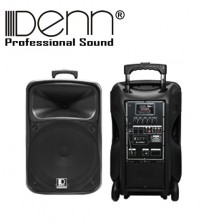 Denn SE-676UR (HH) 15 inch Recording AC / DC Portable Trolley PA Voice Record System With UHF Wireless Microphone
