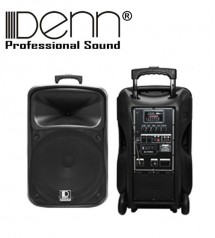 Denn SE-636UR (HH) 12 inch Recording AC / DC Portable Trolley PA Voice Record System With UHF Wireless Mic
