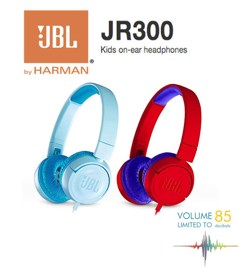 JBL JR300 Kids Junior On Ear Wired Headphones With Safe Sound