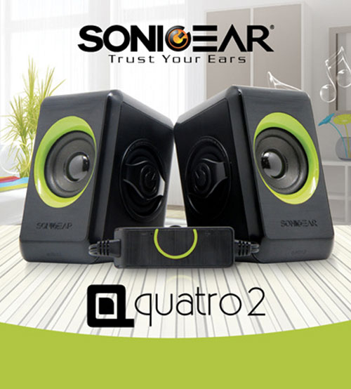 SonicGear Quatro V USB Powered 2.1 Multimedia Computer PC Speaker with FM Radio, TF card slot, USB Slot