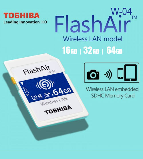 TOSHIBA FlashAir IV 4 Wifi Wireless LAN SDHC Memory SD Card Class 10