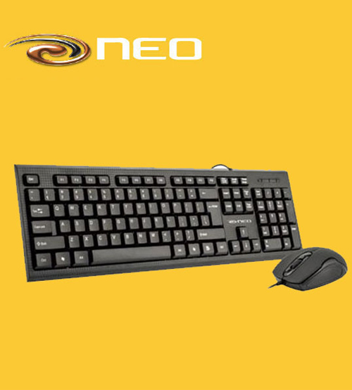 NEO USB Wired Ultra Thin Keyboard & Mouse Combo