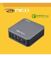 Neo Qualcomm 3.0 Quick Mobile Tablet Charger 5 Ports USB + Type C