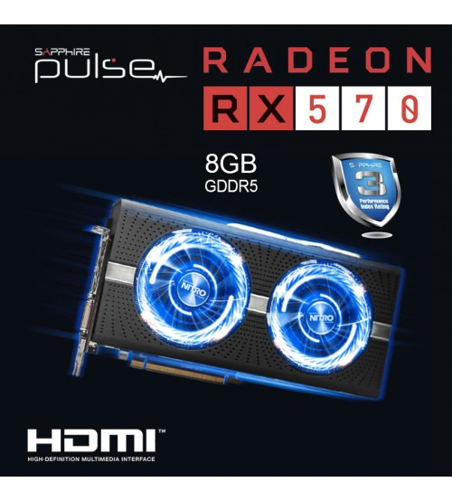 SAPPHIRE PULSE Radeon RX 570 8GD5 Gaming Graphics Graphic