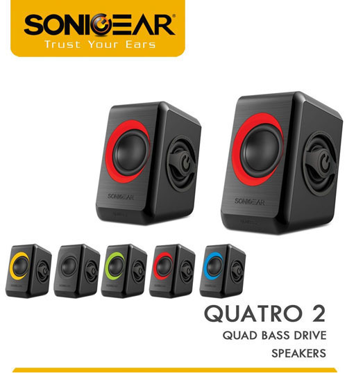 SonicGear Quatro 2 USB Multimedia Computer PC Speaker