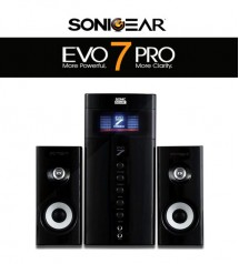 SonicGear Evo 7 Pro 2.1 Channel PC Speakers 2.1 with Bluetooth / FM Radio / SD Slot / USB Slot / Aux Input / Mic