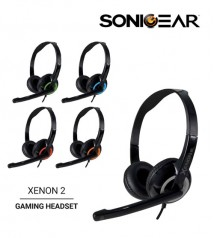 SonicGear Xenon 2 Stereo Headset With Mic Headphones Noise Reduction Microphone