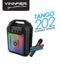 Vinnfier Flip Gear Tango 202 Portable Speaker with Voice Recording, Karaoke System, Bluetooth, USB, Micro SD & Microphone