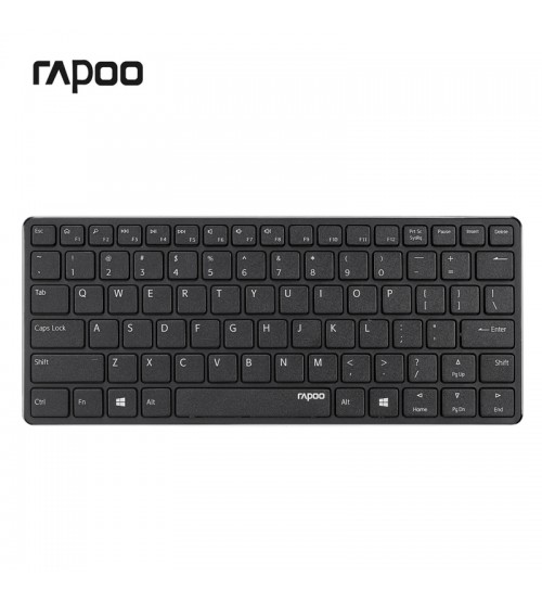 rapoo e6350 bluetooth wireless keyboard multimedia ultra slim mini keyboard for windows. Black Bedroom Furniture Sets. Home Design Ideas