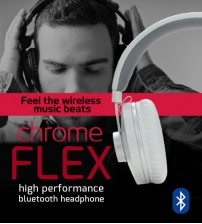 Vinnfier Chrome FLEX High Performance Wireless Bluetooth Headphone With Built-In Microphone Handsfree