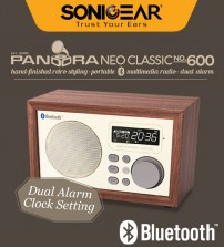 Sonic Gear Pandora Classic NEO 600 Portable Speaker With Bluetooth 4.0 / FM Radio / Wireless Controller / Dual Alarm Clock Setting