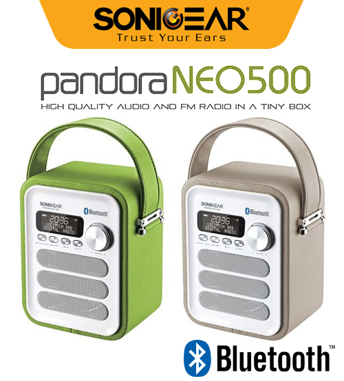 Sonic Gear Pandora NEO 500 Portable Speaker with Bluetooth 4.0 / FM Radio / Wireless Controller (Leatherette)