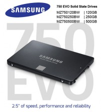 "Samsung SSD 750 EVO Solid State Drives 2.5"" Sata ( 120GB / 250GB / 500GB )"