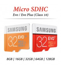 Samsung Micro SDHC Evo / Evo Plus Memory Card with Adapter ( Class 10 ) ( 32GB / 64GB )